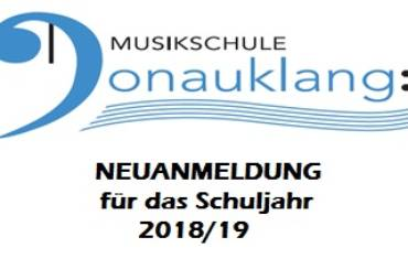 Anmeldeformular – MS Donauklang